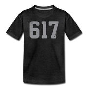 617 Classic Toddler T-Shirt - charcoal gray