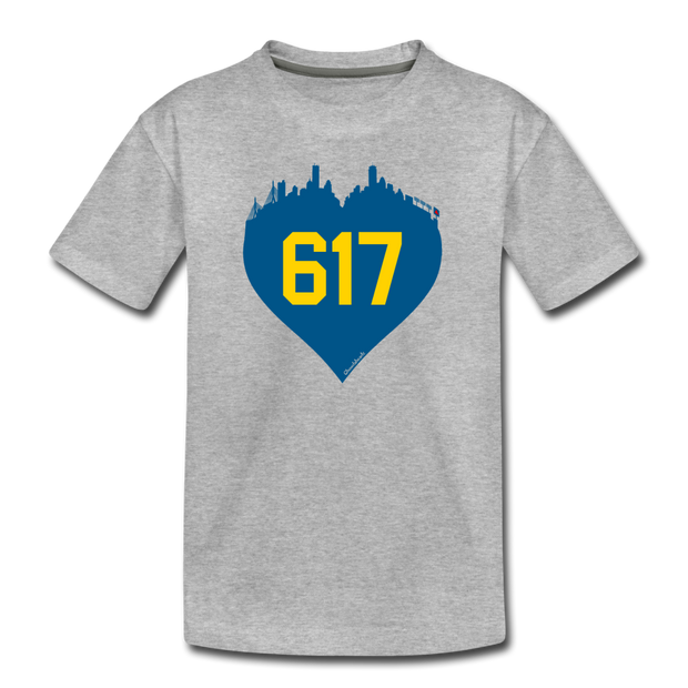 617 Heart Toddler T-Shirt - heather gray