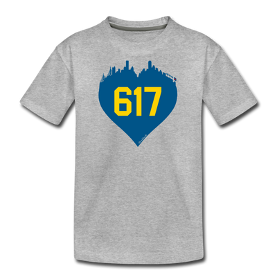 617 Heart Youth T-Shirt - heather gray