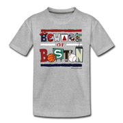 Beware of Boston Icons Toddler T-Shirt - heather gray
