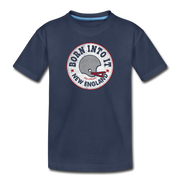 Born Into It New England Toddler T-Shirt - navy