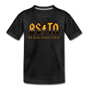 Boston Black & Gold High Voltage Toddler T-Shirt - charcoal gray