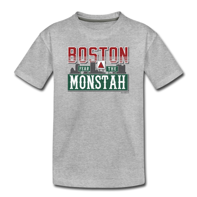 Boston Fear The Monstah Toddler T-Shirt - heather gray