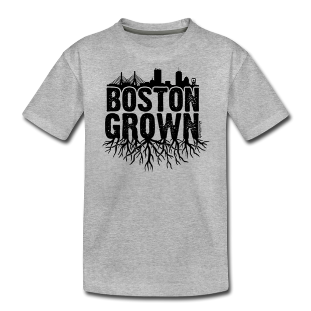Boston Grown Youth T-Shirt - heather gray