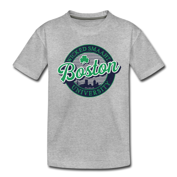 Boston Wicked Smaaht Gameday Youth T-Shirt - heather gray