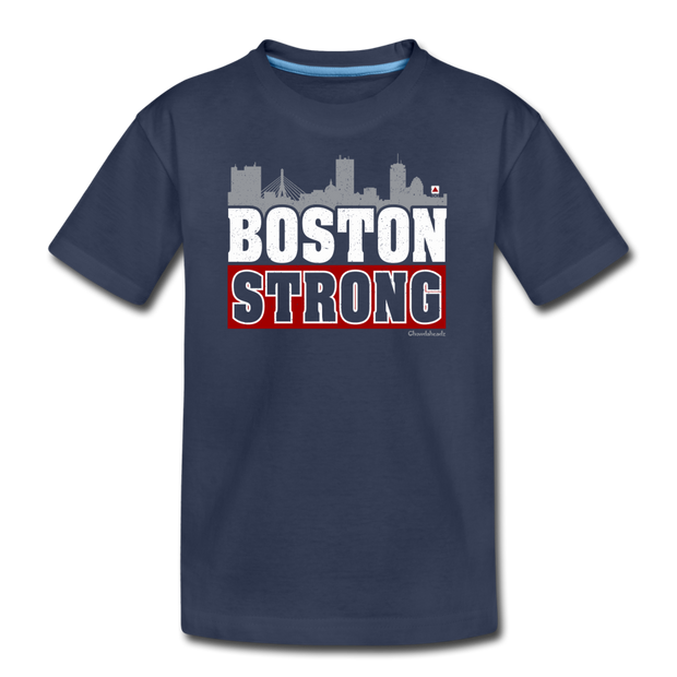 Boston Strong Youth T-Shirt - navy