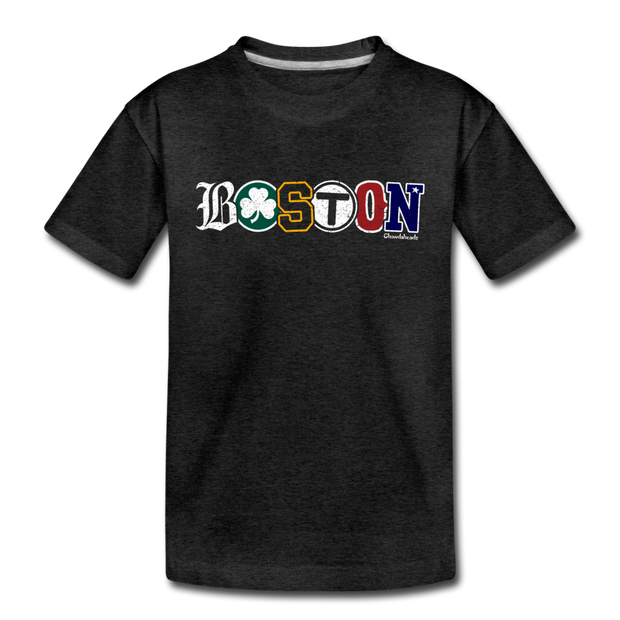 Boston Townie Pride Toddler T-Shirt - charcoal gray