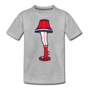 Boston Holiday Leg Lamp Youth T-Shirt - heather gray
