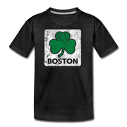 Boston Shamrock Youth T-Shirt - charcoal gray