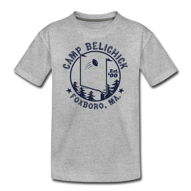 Camp Belichick Youth T-Shirt - heather gray