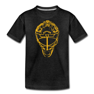 Boston Vintage Hockey Mask Youth T-Shirt - charcoal gray