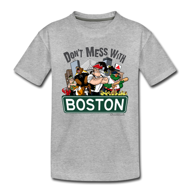 Don't Mess WIth Boston Toddler T-Shirt - heather gray