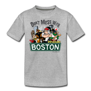 Don't Mess With Boston Youth T-Shirt - heather gray