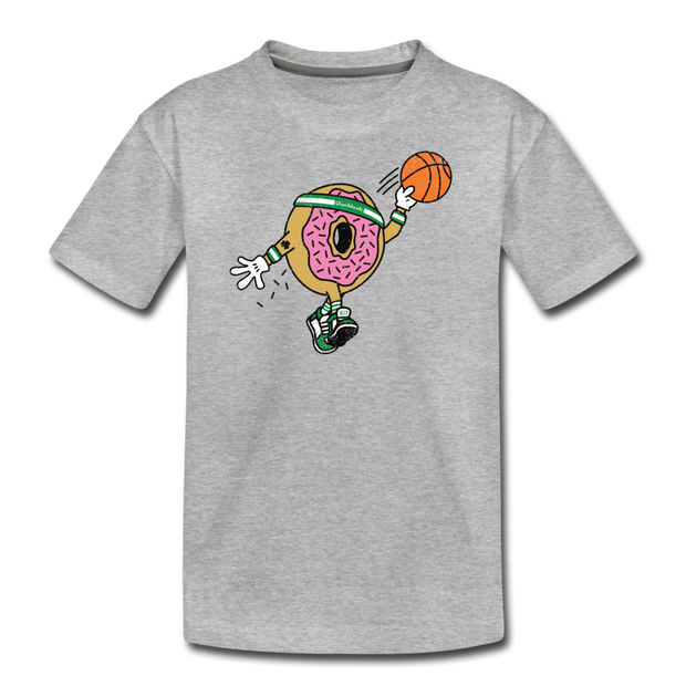 Dunk It Donut Youth T-Shirt - heather gray