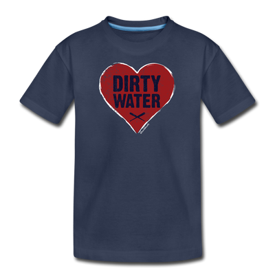 Heart Dirty Water Boston Youth T-Shirt - navy