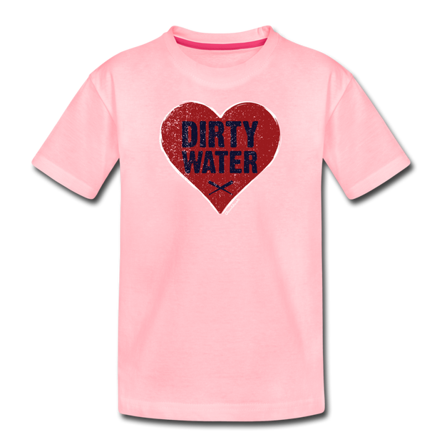 Heart Dirty Water Boston Youth T-Shirt - pink
