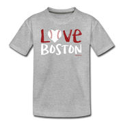 Love Boston Baseball Youth T-Shirt - heather gray