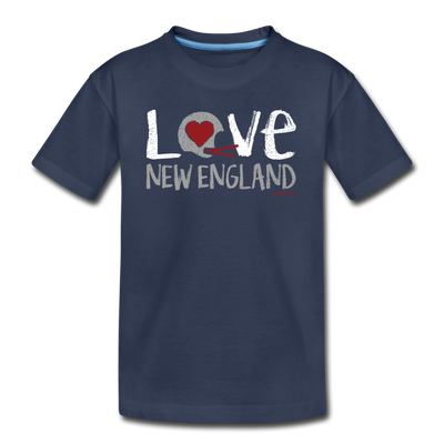 Love New England Football Youth T-Shirt - navy