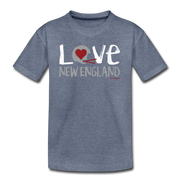 Love New England Football Youth T-Shirt - heather blue