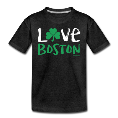 Love Boston Shamrock Toddler T-Shirt - charcoal gray