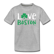 Love Boston Shamrock Youth T-Shirt - heather gray