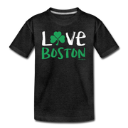 Love Boston Shamrock Youth T-Shirt - charcoal gray