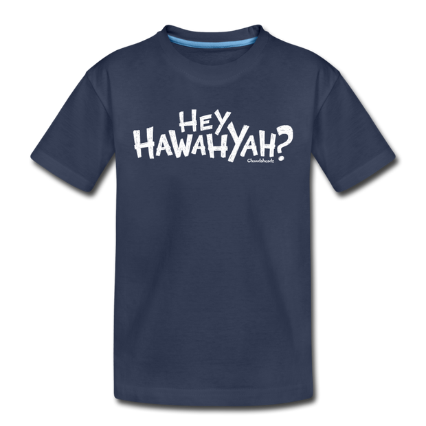 Hey Hawahyah Toddler T-Shirt - navy