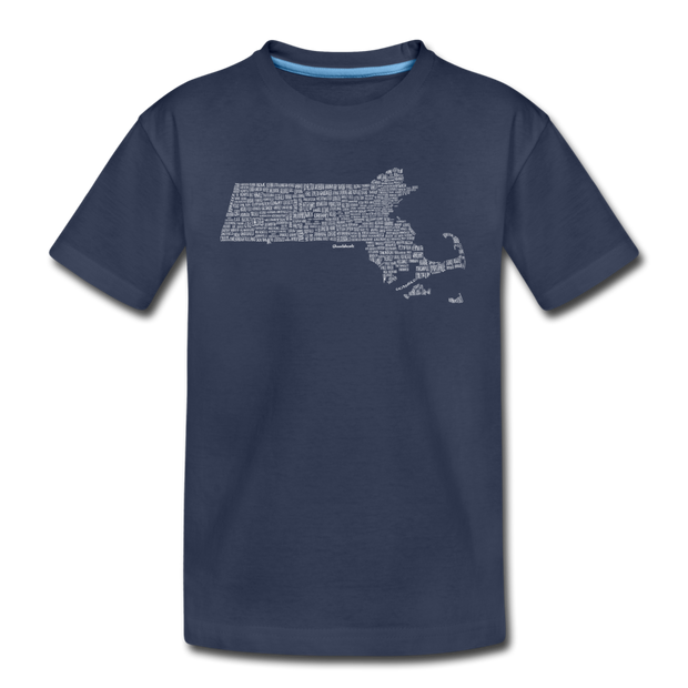 Mass Cities & Towns Youth T-Shirt - navy