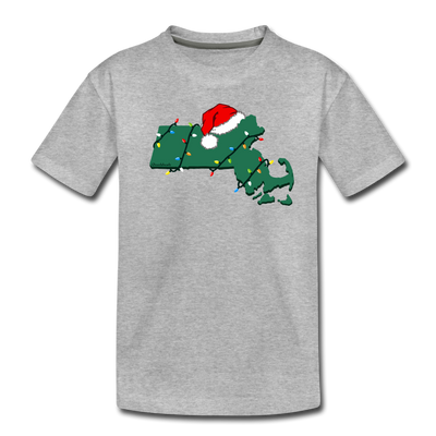 Mass Holiday Cheer Toddler T-Shirt - heather gray