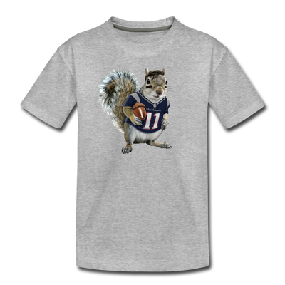 New England Squirrelman Toddler T-Shirt - heather gray