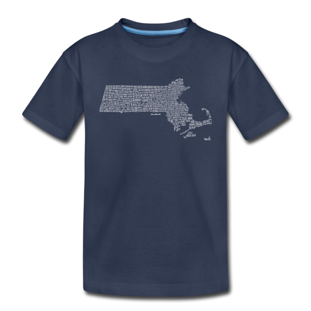Mass Cities & Towns Toddler T-Shirt - navy