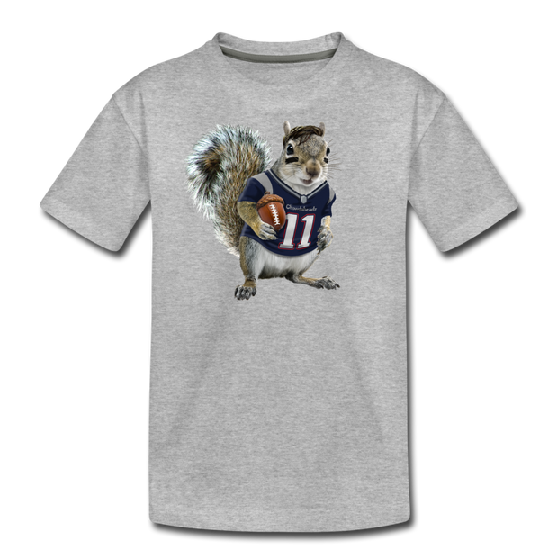 New England Squirrelman Youth T-Shirt - heather gray