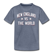 New England Vs The World Youth T-Shirt - heather blue