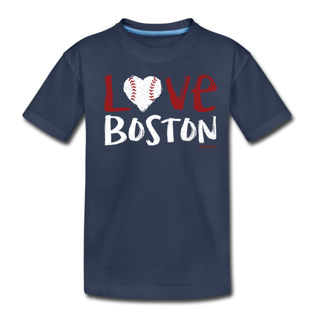 Love Boston Toddler T-Shirt - navy