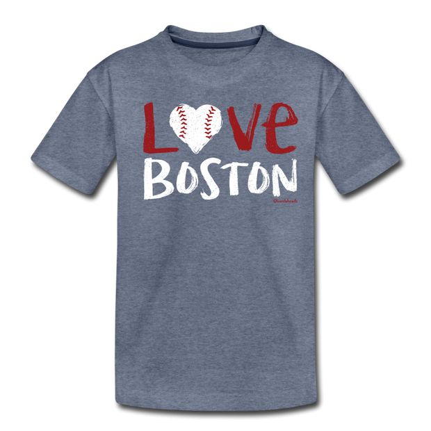Love Boston Toddler T-Shirt - heather blue