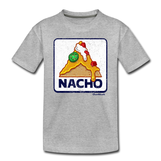 Nacho Sign Toddler T-Shirt - heather gray