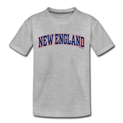 New England Stitch Toddler T-Shirt - heather gray
