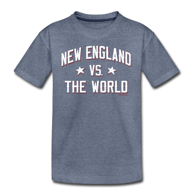 New England VS The World Toddler T-Shirt - heather blue