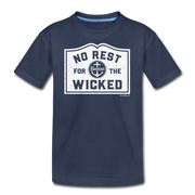 No Rest For The Wicked Youth T-Shirt - navy