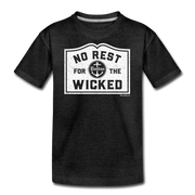 No Rest For The Wicked Youth T-Shirt - charcoal gray