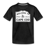 Welcome To Cape Cod Youth T-Shirt - charcoal gray
