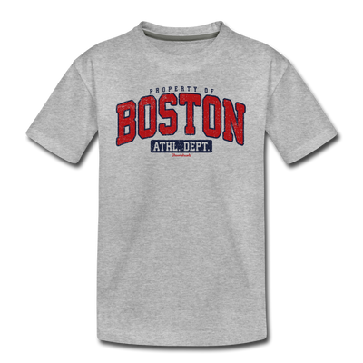 Property of Boston Athletic Dept. Youth T-Shirt - heather gray