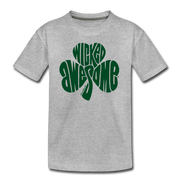 Wicked Awesome Shamrock T-Shirt - heather gray