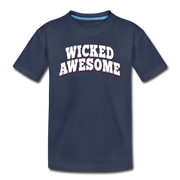 Wicked Awesome Arch Toddler T-Shirt - navy