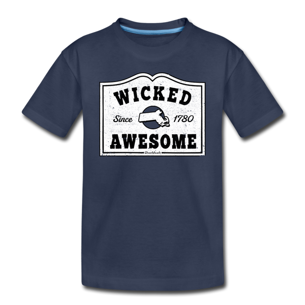 Wicked Awesome Sign Toddler T-Shirt - navy