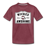 Wicked Awesome Sign Toddler T-Shirt - heather burgundy