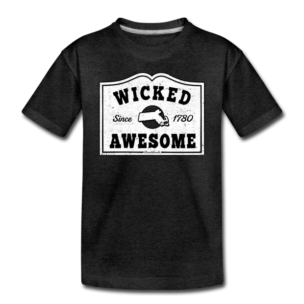 Wicked Awesome Sign Toddler T-Shirt - charcoal gray