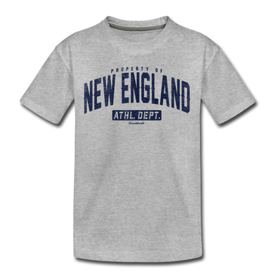 Property Of New England Youth T-Shirt - heather gray