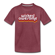 Wicked Awesome Toddler T-Shirt - heather burgundy