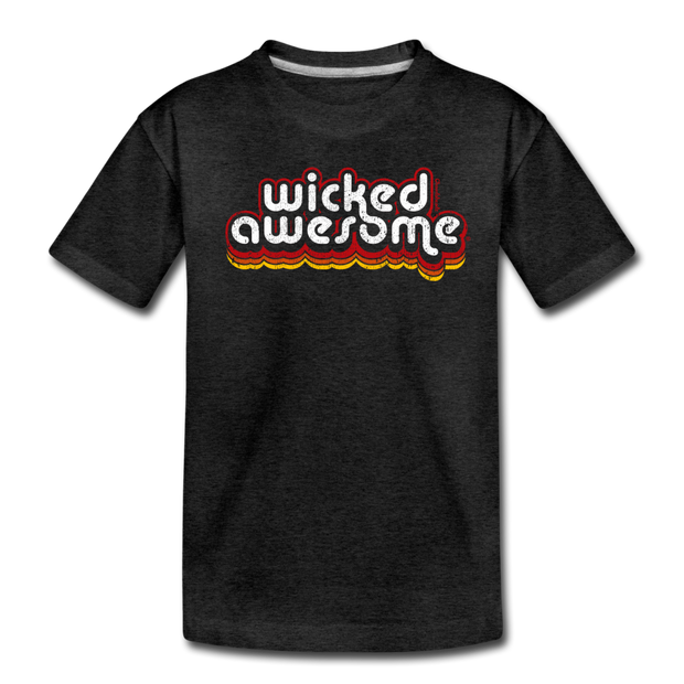Wicked Awesome Toddler T-Shirt - charcoal gray